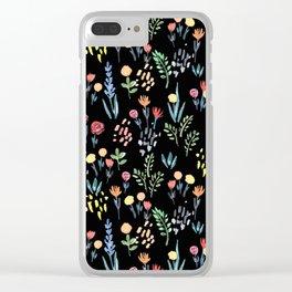 fairytale meadow pattern Clear iPhone Case