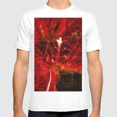 Astral flower White MEDIUM Mens Fitted Tee