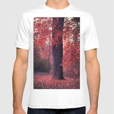 arbre Mens Fitted Tee White MEDIUM