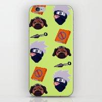 kakashi iPhone & iPod Skins featuring Kakashi Pattern by Palloma