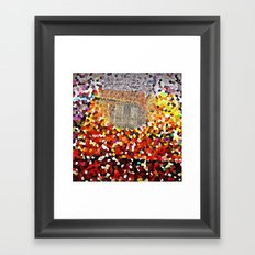 copper mirror reflection Framed Art Print