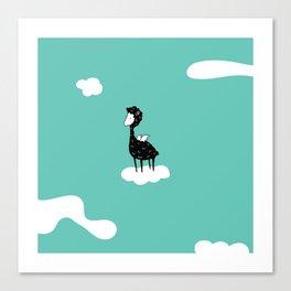 Flying Alpaca by Amanda Jones Canvas Print
