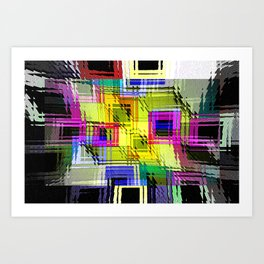 Cubism interdimensional. Art Print