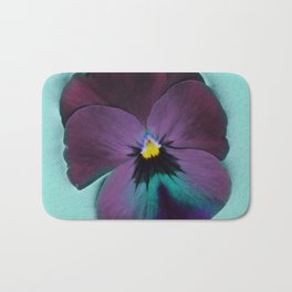 Purple viola tricolor Bath Mat