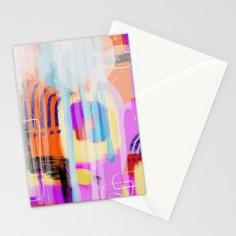 Painterly Abstract Stationery Cards