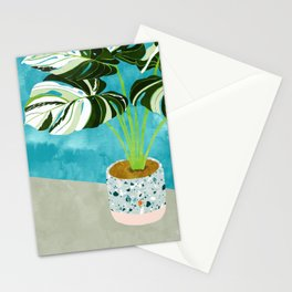 Variegated Monstera #tropical #painting #nature Stationery Cards