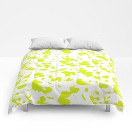Neon splash Comforters