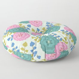 Fluffy floral light Floor Pillow