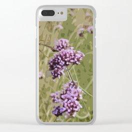 Pretty Verbena Clear iPhone Case