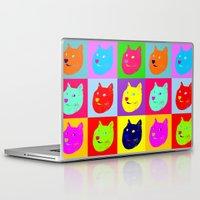shiba Laptop & iPad Skins featuring Pop art shiba  by Sylwia Borkowska