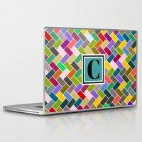 monogram Laptop & iPad Skins featuring C Monogram by mailboxdisco