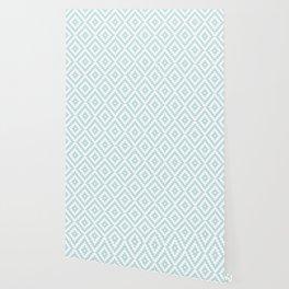 Aztec Block Symbol Ptn Blue & White I Wallpaper
