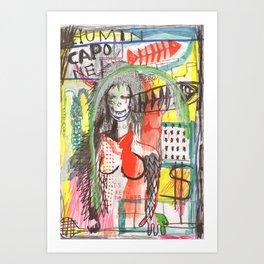 Humin capone Art Print