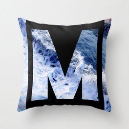 Monogram M Throw Pillow