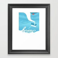 Home is everywhere Framed Art Print