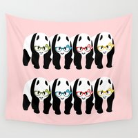 pandas Wall Tapestries featuring Pandas by mailboxdisco