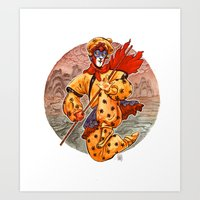 kit king Art Prints featuring Monkey King by Kit Seaton