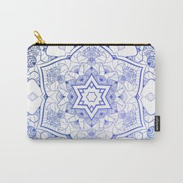 NAMASTE BLUE MANDALA Carry-All Pouch