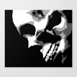 Skull Over Darkness Canvas Print
