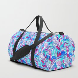 Blue Purple jungle Duffle Bag