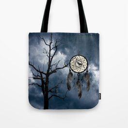 Black Bird Crow Tree Dream Catcher Night Moon A082 Tote Bag
