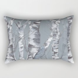 Morning in the Birch Forest Rectangular Pillow