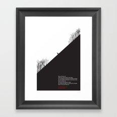 Uphill Framed Art Print