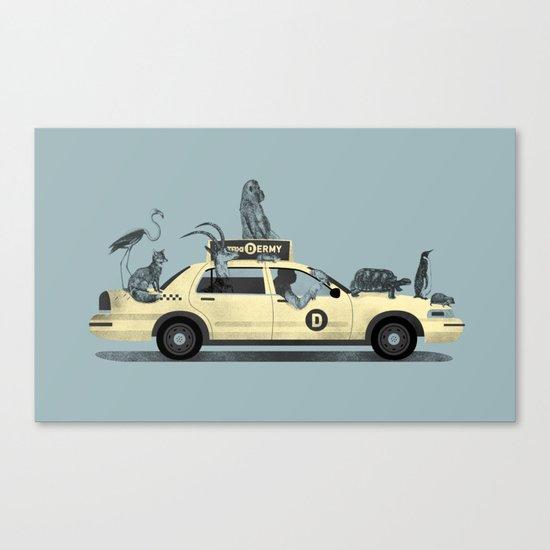 1-800-TAXI-DERMY Canvas Print