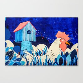 Chicken Rider Canvas Print