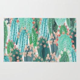 Colorful watercolor cacti Rug