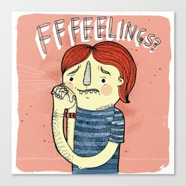 Fffeelings? Canvas Print