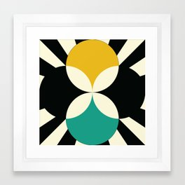 Radial Bloom Framed Art Print