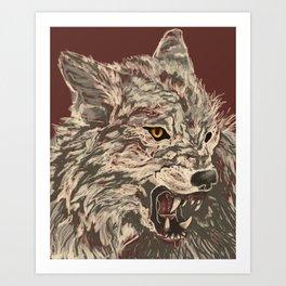 Enraged Art Print