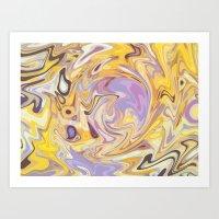Yellow and Purple Car Wash Art Print