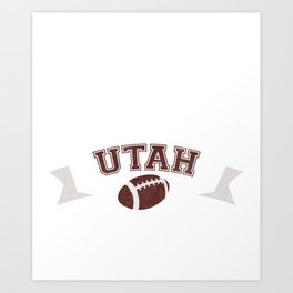 Just a Baller from Utah Football Player Art Print