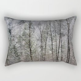 Snow Dusted Trees, No. 1 Rectangular Pillow