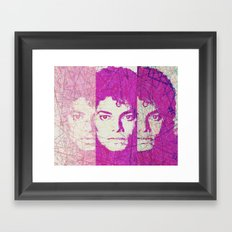 Pop art Michael Framed Art Print
