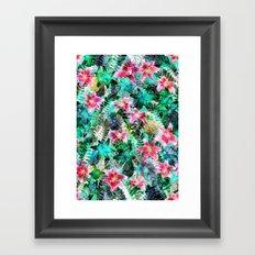 Jungle Lilies Framed Art Print