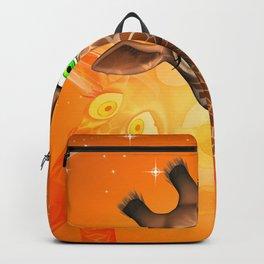 Funny cartoon giraffe Backpack