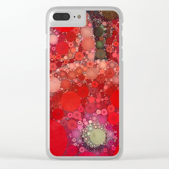 Red Poppies Clear iPhone Case