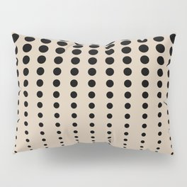 Reduced Black Polka Dots Pattern on Solid Pantone Hazelnut Background Pillow Sham