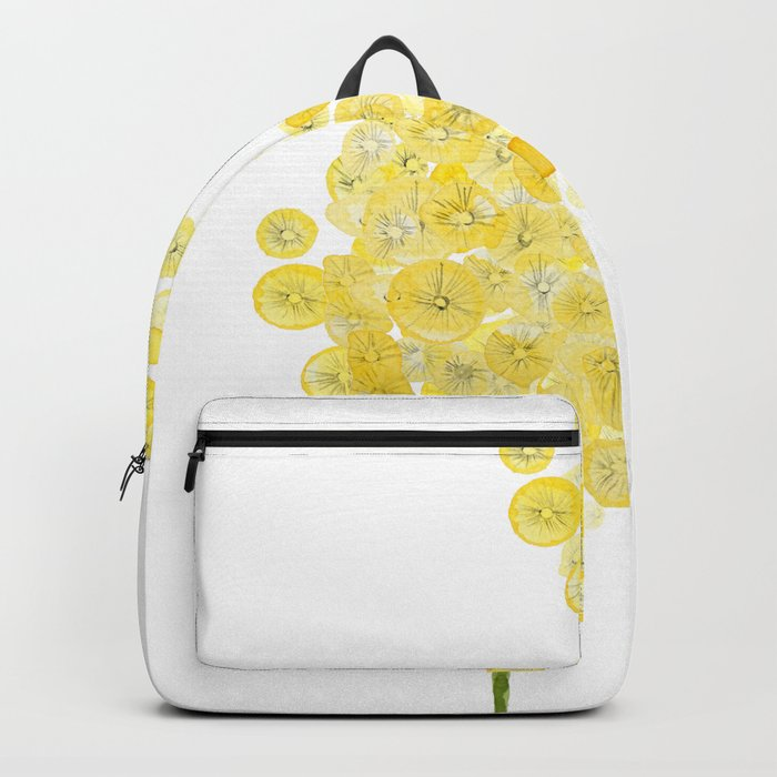 two abstract dandelions watercolor Backpack