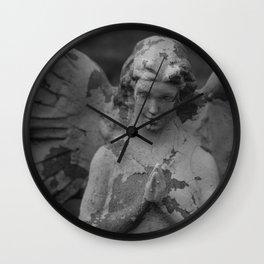 Cemetery Angel Statue Wall Clock
