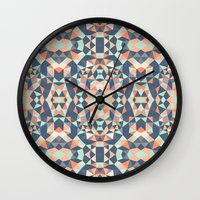 southwest Wall Clocks featuring Southwest Tribal by Beth Thompson