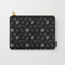 Organs, White on Black Carry-All Pouch