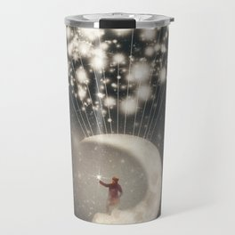 The Big Journey of the Man on the Moon  Travel Mug