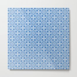Let it Snow Geometric Print Seamless Pattern Metal Print