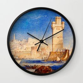 Rhodos - Joseph Mallord William Turner Wall Clock