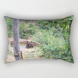 Peaceful Swimmer Rectangular Pillow