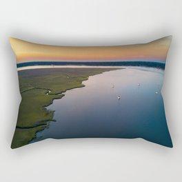 Stono River Sailboats Rectangular Pillow